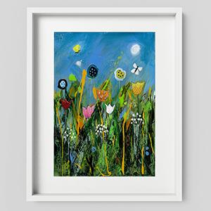 Dizzy Meadow landscape wall art print