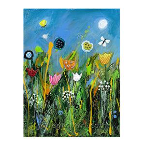 Dizzy Meadow printable meadow wall art