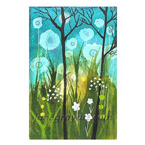 Night Of The Big Flowers printable flower art
