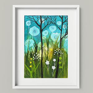 The Night Of The Big Flowers digital art print