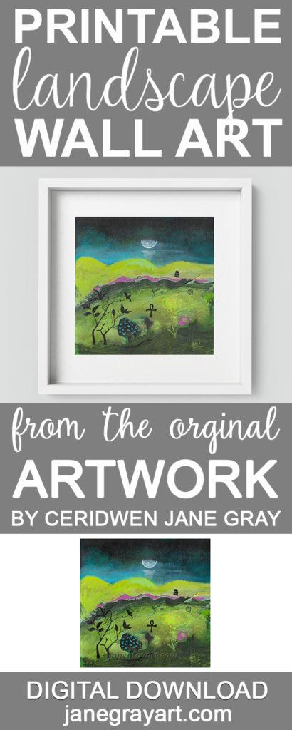 printable landscape wall art