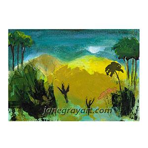Printable Hill Landscape Art