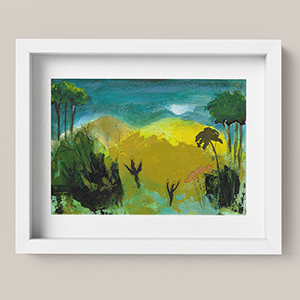 Printable Hill Landscape Art