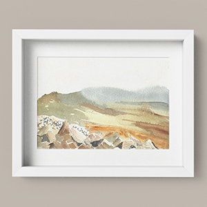 Printable Mountain Wall Art Preseli Hills Wales