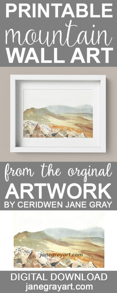 Printable Welsh Mountain Wall Art